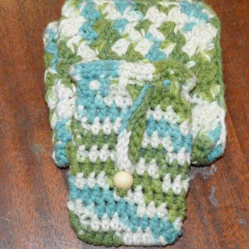 Crochet Bath Set,100% Cotton Facial Cloth and Soap Saver Sack